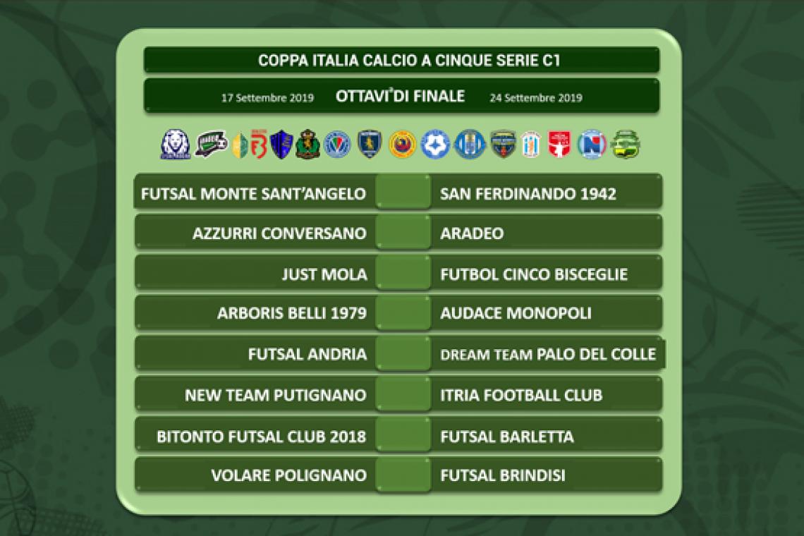 Coppa Italia Calcio a Cinque: gli ottavi di finale - Lega Nazionale  Dilettanti - CR Puglia